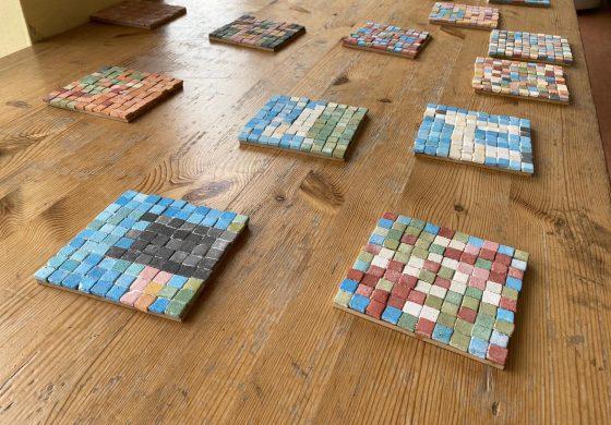 Spannendes Mosaik - Projekt in der Krokoklasse